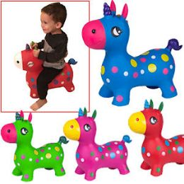 8 Bulk Bouncy Inflatable Unicorns.