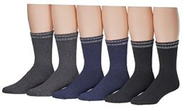 6 Bulk Yacht & Smith Mens Cotton Thermal Boot Socks