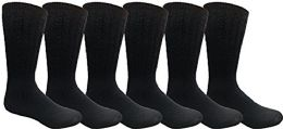 6 Bulk Yacht & Smith Men, Hunting Hiking Backpacking Thermal Sock (navy)