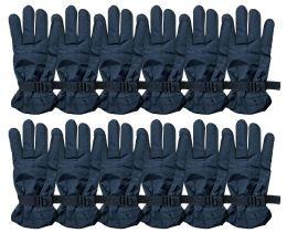 12 Bulk Yacht & Smith Men's Winter Ski Gloves , Fleece Lined With Zipper Pocket