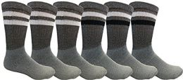 6 Bulk Yacht & Smith Mens Tube Socks, Old School, Sports Casual, Comfortable Cotton Blend
