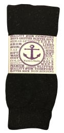 12 Bulk Yacht & Smith Mens Thermal Non Slip Tube Socks, Gripper Bottom Socks