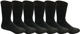 6 Bulk Yacht & Smith Mens Tube Socks, Comfortable Cotton Blend Size 10-13