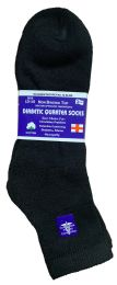 6 Bulk Yacht & Smith Men's Loose Fit NoN-Binding Soft Cotton Diabetic Quarter Ankle Socks,size 10-13 Black