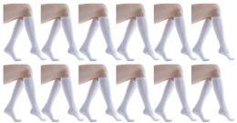 12 Bulk Yacht & Smith Womens Knee High Socks, Solid White 90% Cotton Size 9-11