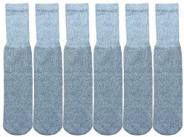 6 Bulk Yacht & Smith Kids Gray Solid Tube Socks Size 4-6