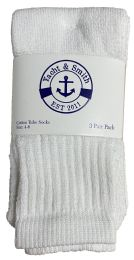 6 Bulk Yacht & Smith Kids White Solid Tube Socks Size 4-6