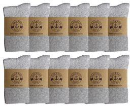 12 Bulk Yacht & Smith Women's Knee High Socks, Solid Gray 90% Cotton Size 9-11