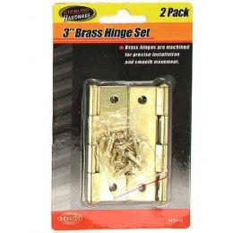 "72 Bulk 3"" Brass Hinge Set With Screws"