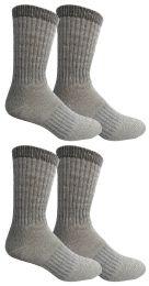 4 Bulk Yacht & Smith Mens Terry Lined Merino Wool Thermal Boot Socks