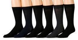 6 Bulk Socksnbulk Men's Fashion Designer Dress Socks (assorted Dark (6 Pairs))