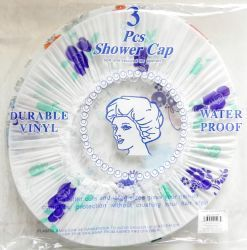 48 Bulk 3 Pack Deluxe Shower Cap