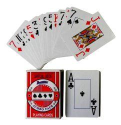 48 Bulk Plastic Coated Jumbo Face Playing Cards