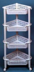 12 Bulk 4 Tier White Corner Rack