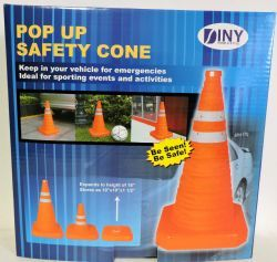 24 Bulk Pop Up 16 Inch Safety Cone Emergency Sporting Events And Kids Activities