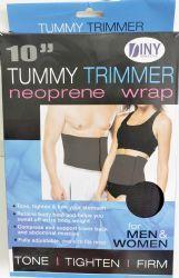 48 Bulk Tummy Trimmer Neoprene Wrap 10 Inch For Men And Women