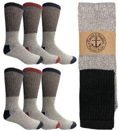 120 Bulk Yacht & Smith Men's Winter Thermal Tube Socks Size 10-13