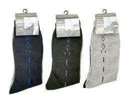 144 Bulk Mens Dress Socks 2 Pack