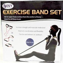 12 Bulk Fitness Exercise Band Set With Storage Bag