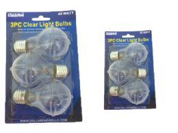 48 Bulk Light Bulb 3pc 40watt Clear