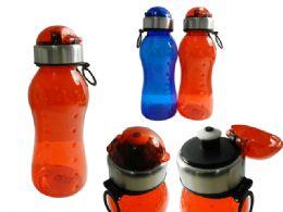 48 Bulk Sport Water Bottle With Flip Top Lid