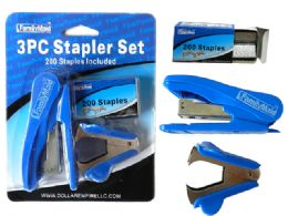 72 Bulk 3 Piece Stapler Set