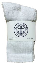 180 Bulk Yacht & Smith Kids Cotton Crew Socks White Size 4-6