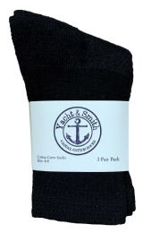 180 Bulk Yacht & Smith Kids Cotton Crew Socks Black Size 4-6