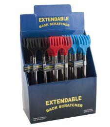 48 Bulk Back Scratcher Extendable 24pc Pdq 3ast Colors