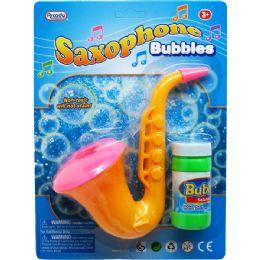 48 Bulk Seven Inch Saxophone Bubbles