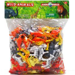 8 Bulk One Hundred Piece Plastic Wild Animals