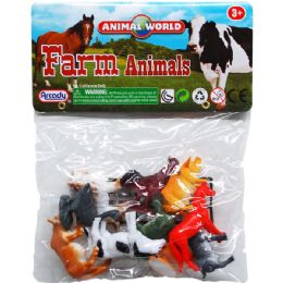 108 Bulk 10 Piece Plastic Farm Animals