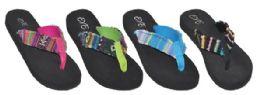 48 Bulk Women's Flip Flops Assorted Color