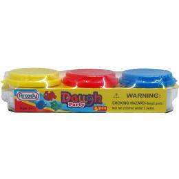 72 Bulk 3 Piece Play Dough Set