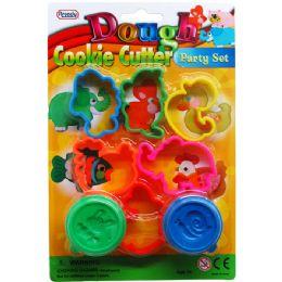 72 Bulk Eight Piece Play Dough Molder Set