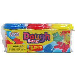 48 Bulk 3 Piece Dough Play Set