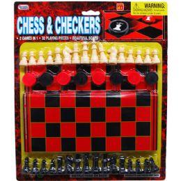 48 Bulk 48 Piece Chess & Checkers