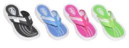 36 Bulk Women's Assorted Color Flip Flops