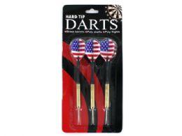 72 Bulk Hard Tip Darts With American Flag Design