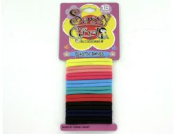 72 Bulk Colored Elastic Hair Bands