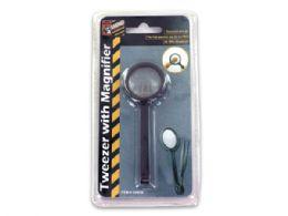 72 Bulk Tweezers With Magnifier