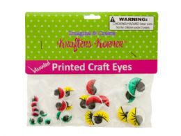 75 Bulk Colored Wiggly Printed Craft Eyes