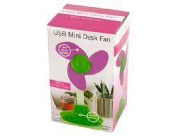 24 Bulk Usb Mini Flower Shape Desk Fan