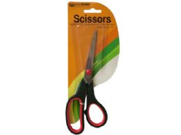 36 Bulk Stainless Steel Scissors With Plastic Handles