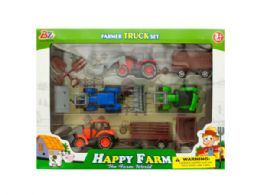 6 Bulk Farm Tractor Truck & Trailer Set