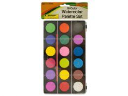 36 Bulk Watercolor Paint Palette Set With Brush