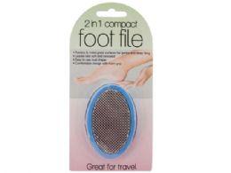 60 Bulk 2 In 1 Compact Foot File