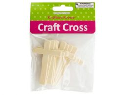60 Bulk Wooden Craft Crosses