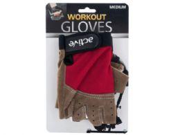 12 Bulk Medium Size Breathable Workout Gloves