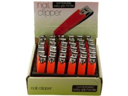108 Bulk Nail Clipper With Textured Handle Countertop Display